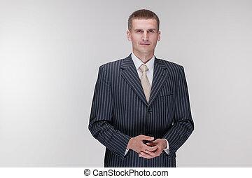 black suit businessman white shirt