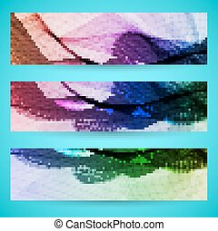 Abstract banner background, colorful art  illustration