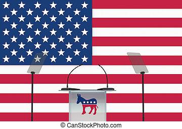 Democratic Debate 2016 - Render illustration of donkey icon...