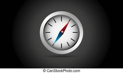 Compass icon design, Video Animation HD1080