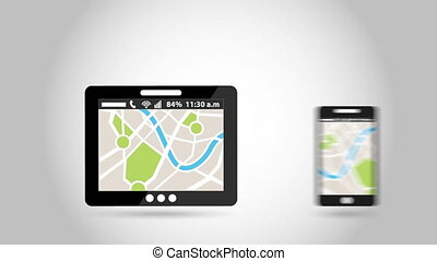 gps service design, Video Animation HD1080