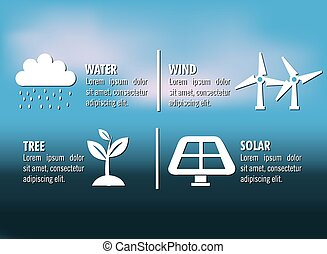 clean energy design, vector illustration eps10 graphic