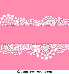 Abstract Heart Flower Background Vector Illustration