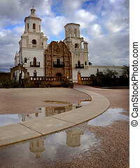 San Xavier Mission Christian Achurch - San Xavier mission in...