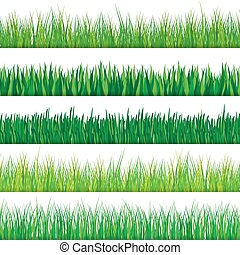Green grass set. Isolated