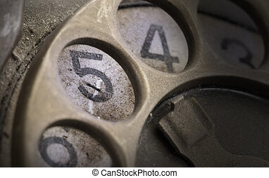 Close up of Vintage phone dial - 5 - Close up of Vintage...