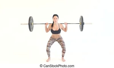 Woman Doing Dead Lift