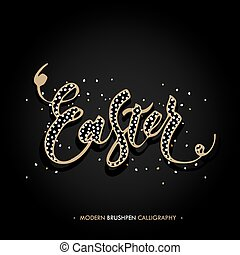 Easter lettering card Hand drawn lettering poster for Easter...