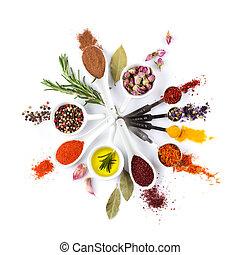 hierbas, especias, Condimentos