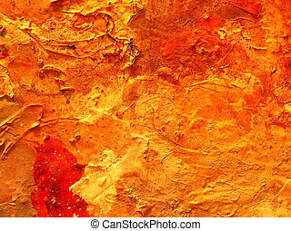 Oil paint, fragment of dirty pallete.