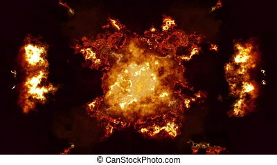 Flame abstract flare loop animated background