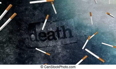 Death smoking blue black