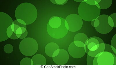 Green Background Loop - Green abstract lights background...