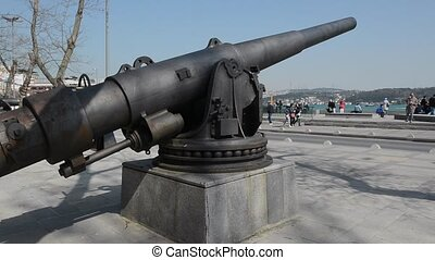 Iron Cannon in Istanbul on Seaside