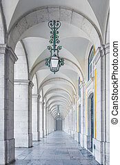 Archway - Classical architecture in a white marble archway...