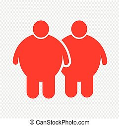 Fat People Icon Illustration design