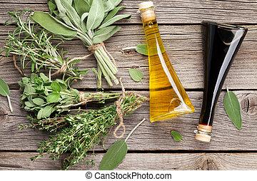 fresco, jardín, Condimentos, hierbas