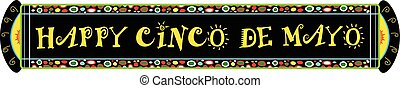 Cinco De Mayo Festive Banner - Colorful Happy Cinco De Mayo...