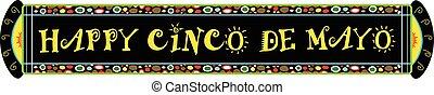 Cinco De Mayo Festive Banner - Colorful Happy Cinco De Mayo...