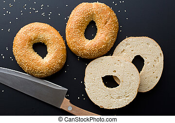 tasty bagel with sesame seed - the tasty bagel with sesame...