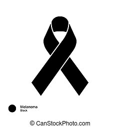 Melanoma ribbon - image of Awareness Ribbons Color Meaning...