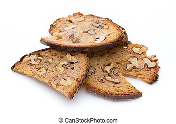 Rye bread crisps with walnuts - Bread crisps with walnuts