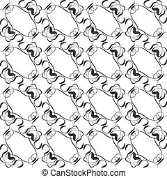 Seamless pattern in islamic style, black and white Vector background