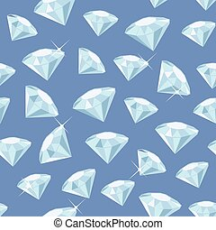 Diamond Seamless Pattern - Seamless pattern made of diamonds