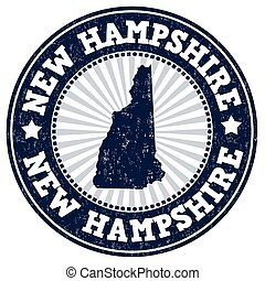 New Hampshire grunge stamp - Grunge rubber stamp with the...