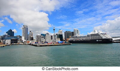 Ports of Auckland - AUCKLAND - JAN 31 2016:Cruises ship...