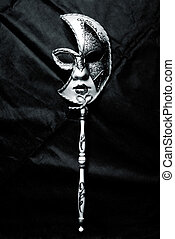 Venetian Mask - Venetian Carnival Mask, black and white...