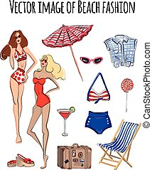 Vector image Beach fashion