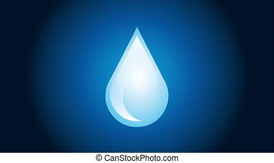 Water icon design, Video Animation HD1080