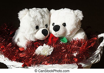 Sweethearts - White teddy bear sweethearts