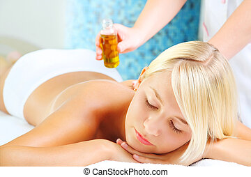 Young Woman In Spa