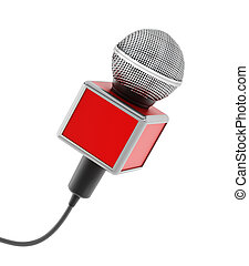News microphone - Vintage News microphone isolated on white...