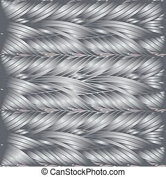 Vector pattern of interwoven leaves The plaiting of the...