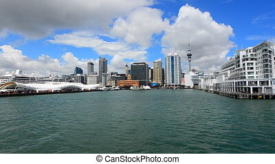 Auckland waterfront skyline - AUCKLAND - JAN 31...