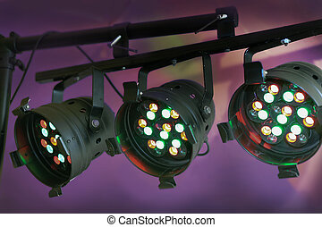 spotlights with diode lamps - spotlights with multi-colored...