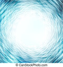 vortex abstract background - blue vortex of lines, vector...