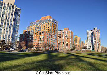Residential district in Roosevelt Island - Residential...