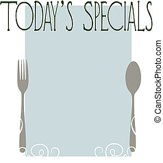 Today\'s Specials - A blank menu template for today\'s...