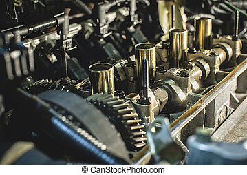Internal combustion engine with a shallow depth of field