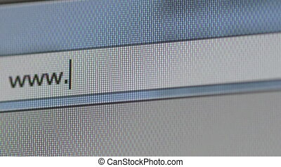 Close-up of internet text icon - Close-up of internet search...