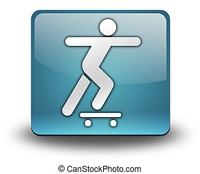 Icon, Button, Pictogram Skateboarding - Icon, Button,...