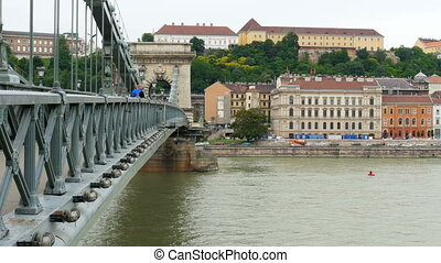 """Chain Bridge view, Budapest, 4k"""