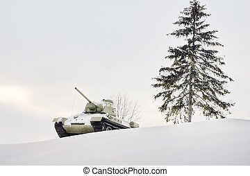 winter military landscape