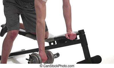 One-arm Bent Over Row - One-arm bent over row exercise...