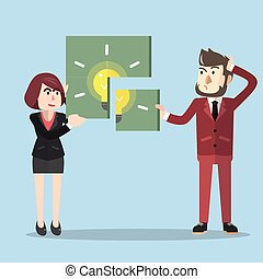 Idea puzzle business solfing