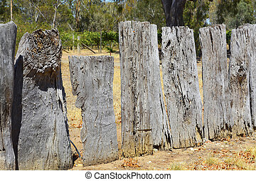 Very old wooden fence.